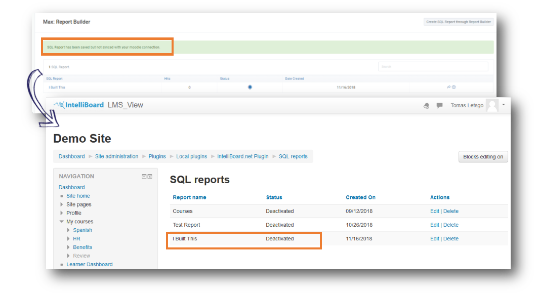 Max Report Builder: Build by SQL - Moodle LMS – IntelliBoard Support